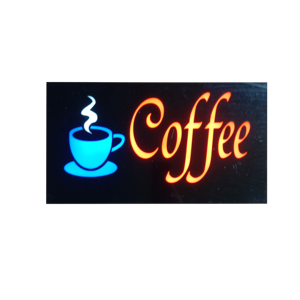 Resin LED coffee Sign