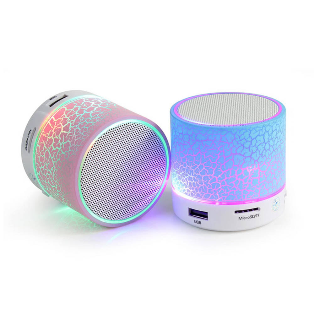 A9 draagbare draadloze Speaker <span class=keywords><strong>Mini</strong></span> Luidspreker Crack LED ondersteuning TF USB Subwoofer <span class=keywords><strong>Speakers</strong></span> <span class=keywords><strong>mp3</strong></span> stereo audio muziekspeler