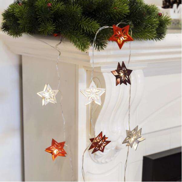 Newish wholesale hanging wooden star lighting decoration for home tree outdoor christmas decor supplies in bulk