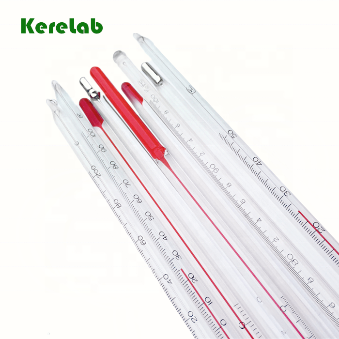 KereLab Alcohol Glass Thermometer with Red Liquid
