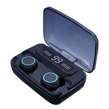M11 TWS IPX7 Waterproof LED Power Display Wireless Earphone Headphones 3300mAh Charging Case Sports Touch Headset