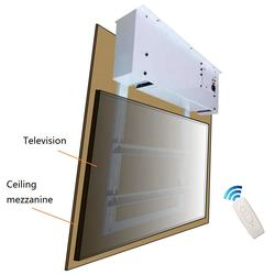 Hidden furniture Fully automated ceiling flip- down TV lift motorized tv ceiling mounts electric tv wall mount