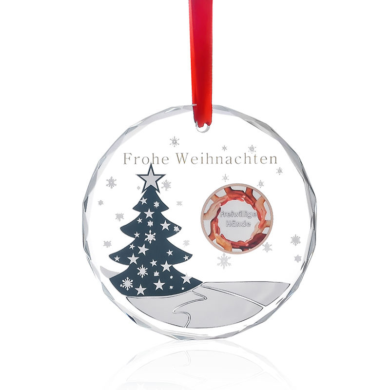 Factory Wholesale Clear Crystal Christmas Tree Ornaments for Party Decoration