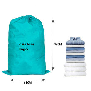 commercial heavy duty Large Hotel Laundry Bags Folding Washing Drawstring Nylon Laundry Bag