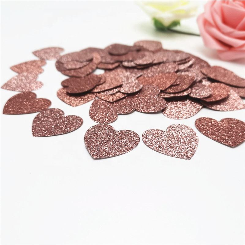 Confettis Glitter Rose Gold Paper table heart confetti for wedding decoration Birthday Party Baby Shower Decor Supplies