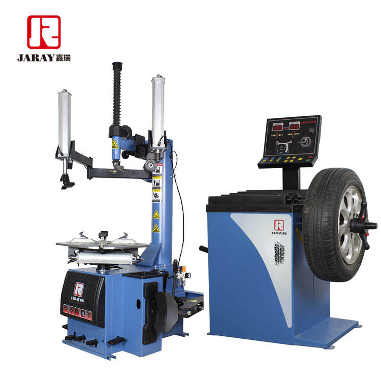 Yingkou Jaray double helper arm pneumatic tire changer and wheel balancer
