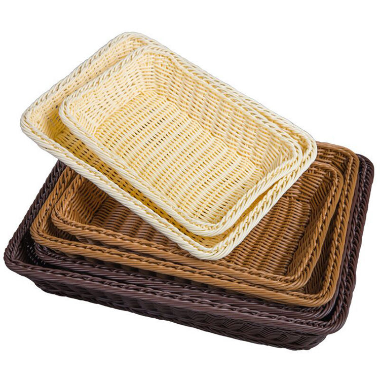 Natural Large Woven Seagrass Basket of Straw Wicker For Home Table Fruit Bread Towels Small Kitchen Storage Container Set