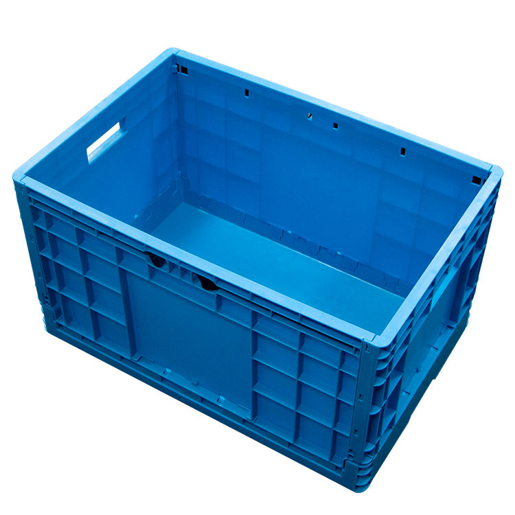 Vegetables folding plastic crates collapsible industria fruitl storage crates