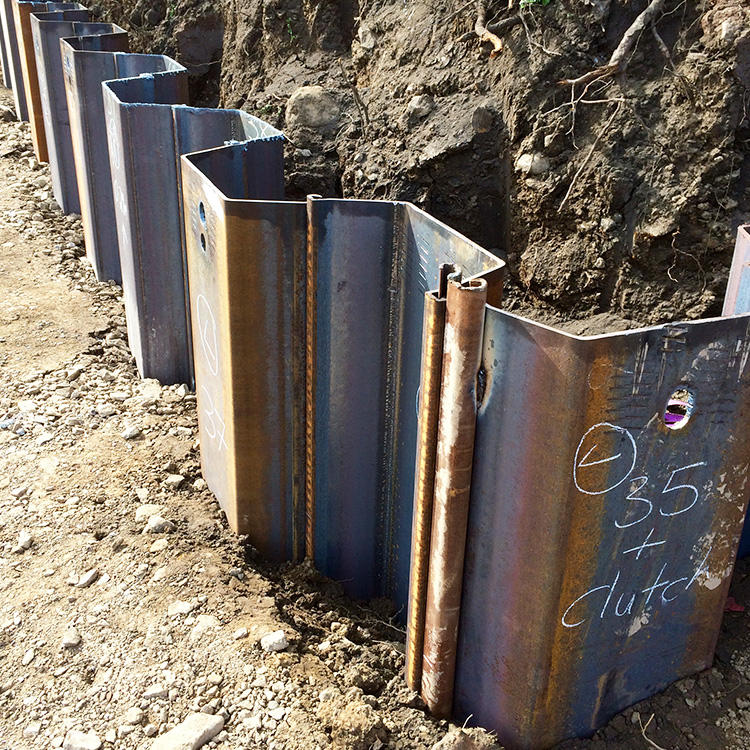China supplier SY295 SY390 s355 Q235 10mm thick 400x150mm size Hot Rolled Lassen used Steel Sheet Pile
