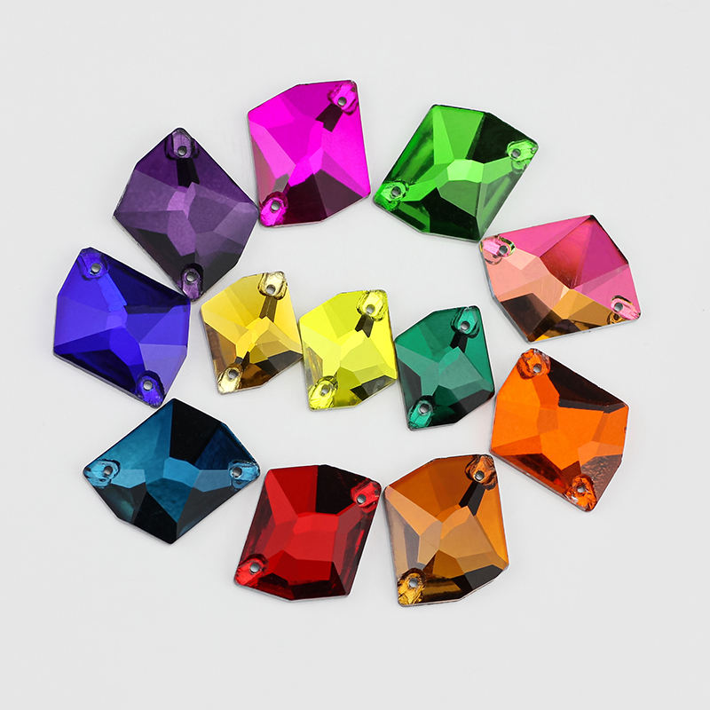 ALL Size 3265 cosmic colorful Sew on stone Flatback glass Crystal Rhinestone for garments