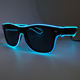 Attractive Euramerican Style Sparkling EL Wire Novelty Lighting Trendy Eyewear Neon LED Blink Sunglasses with 3V Driver 10 color