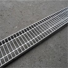 Galvanized metal grid rain gutter water trench cover grating