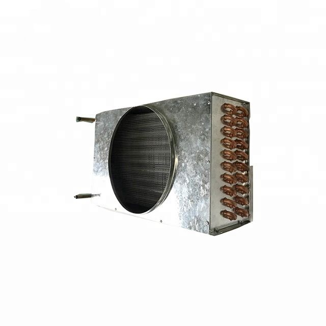 Water cooled condenser evaporator for refrigerator freezer