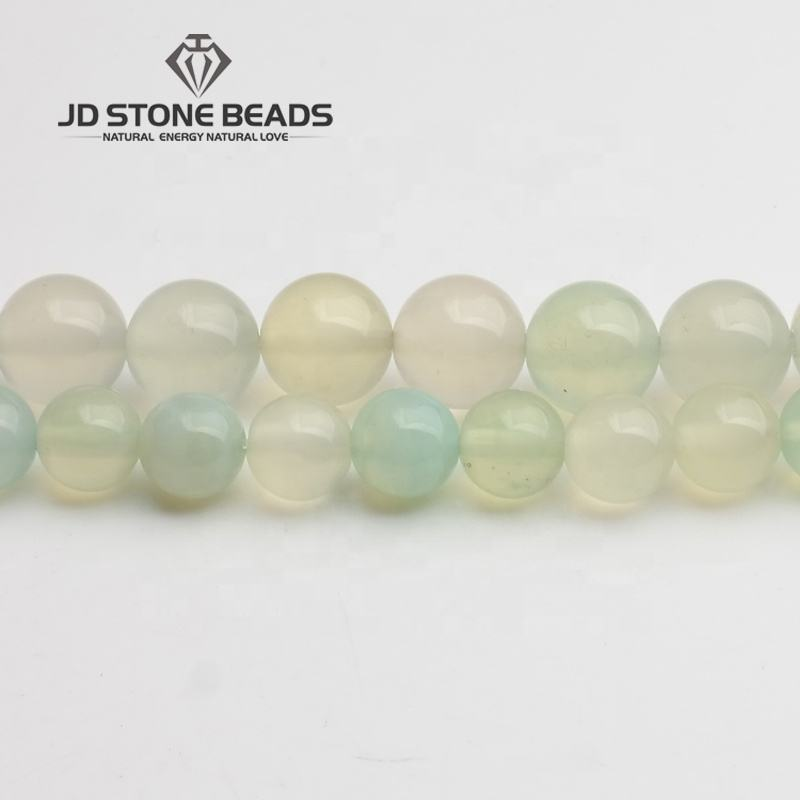 Apple Green Agate Beads Onyx 4 6 8 10 12MM Size Gemstone Beads Personal Design Accessory Wholesale Accessories For Jewelry Makin