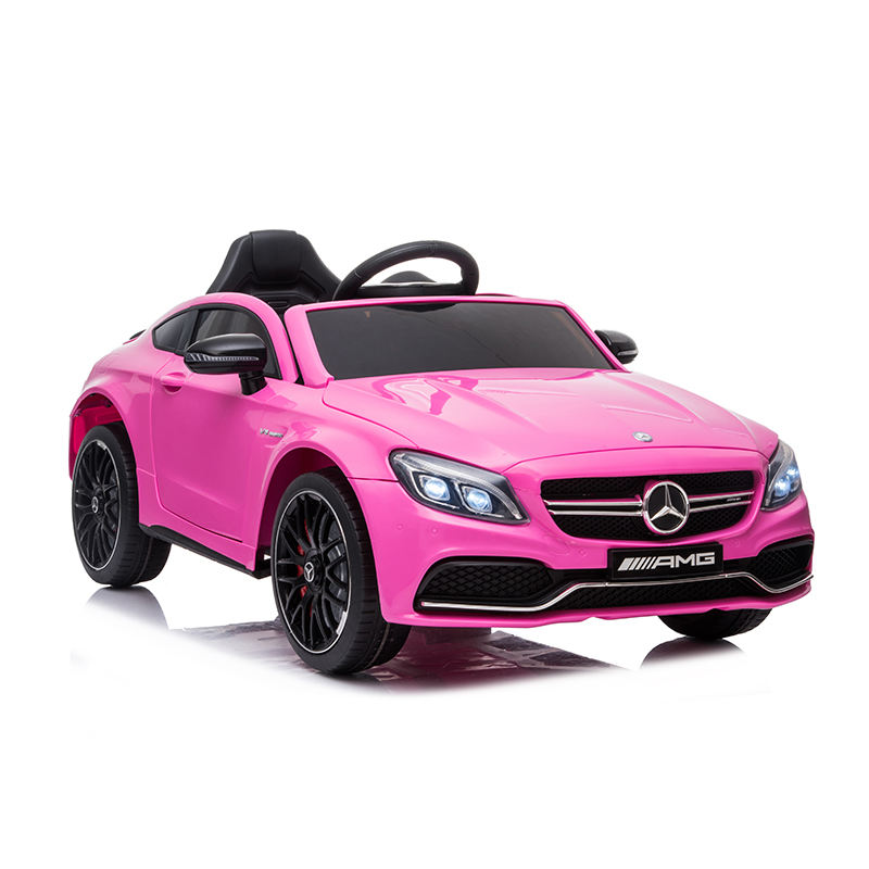 Mercedes Benz Licensed Children Car Model 12 Volrt Four Wheel Pink Electric Kids Ride on Car Gift Toys with Leather Seat