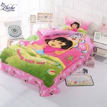 Cartoon styles 3D Swing Dora print cotton duvet cover set for children