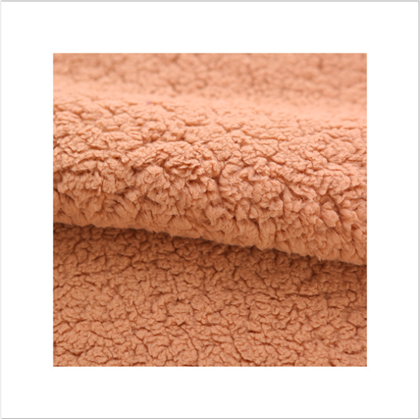 Good quality plain dyed sherpa fleece bonded single jersey knitted fabric