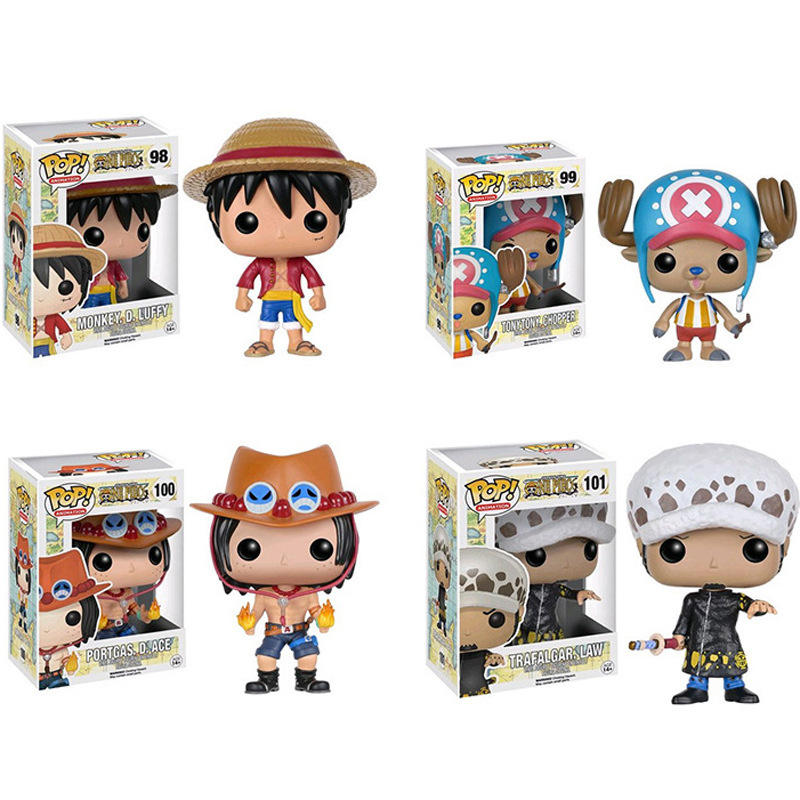 FUNKO POP One Piece Series Luffy Water Law Ace Tony Chopper Big Head Doll Model