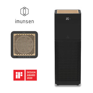 IMUNSEN M001B 2020 Brand New Home Appliance Cypress Wood 4 Stage H13 True Hepa Filter with IOT Dual Fan Home Air Purifier