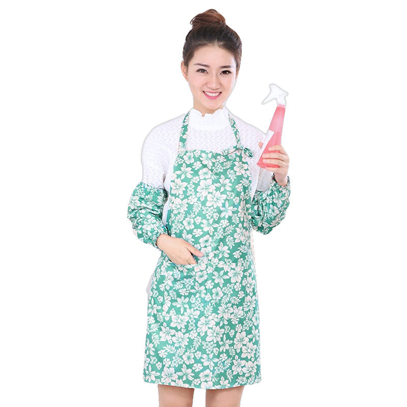 New design salon aprons pvc server shoulder strap apron