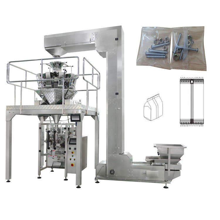 Vertical VFFS Film Flat Bag Wire Nail Bearing Hardware Automatic Screw Counting Packing Machine