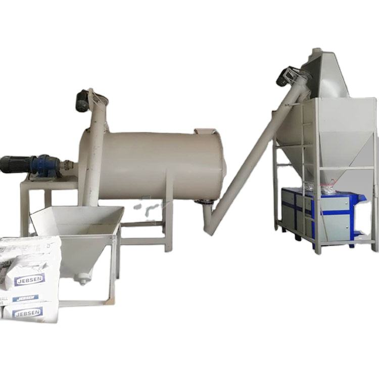 Mini Simple Dry Cement Mortar Plaster Production Line Mixer Machine Premix Plant Mixing Equipment Manufacturer For Sale In India