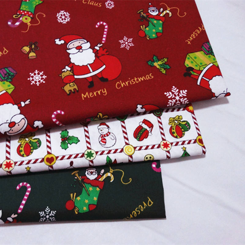 2020 new Christmas design printed cotton fabric for DIY