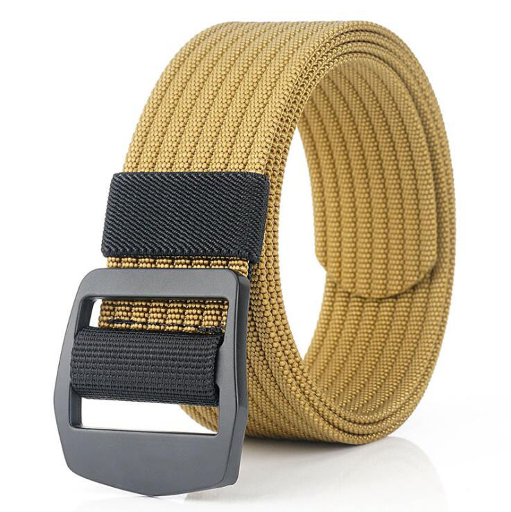 Wholesale Unisex Casual Nylon Belt Elastic Stretch Belts With Buckle