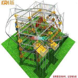 Adventure Climbing Playground Equipment Kids Indoor Obstacle Ropes Course