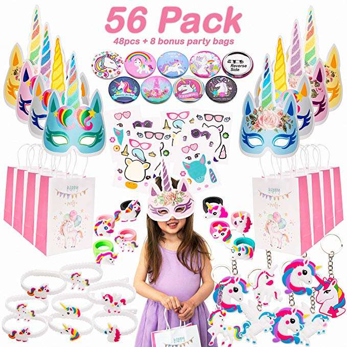 PARTYCOOL 2020 New Arrive Girls Birthday Gift Bags Favors Supplies Set Unicorn Party