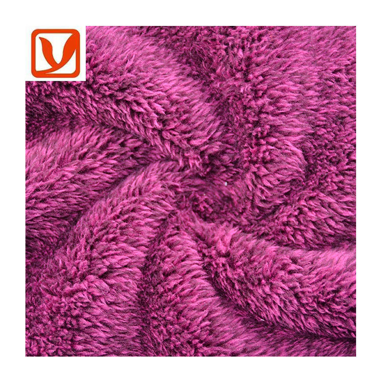 High Quality Knit 100% Polyester Double Brushed Cationic Fleece Fabric For Clothes