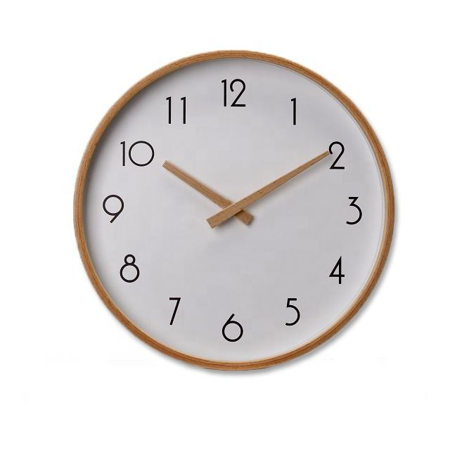Hot sale wooden wall clocks wholsale quartz movement wooden hands for gift and household items