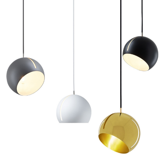 Up Down Adjusted Shade Modern Round Ball Metal Hanging Pendant Lamp