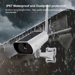 Smart Solar Security Camera Outdoor Wifi Nachtzicht Surveillance Draadloze Netwerk Cctv Ip Camera Hd Infrarood Camera Voor Verkoop