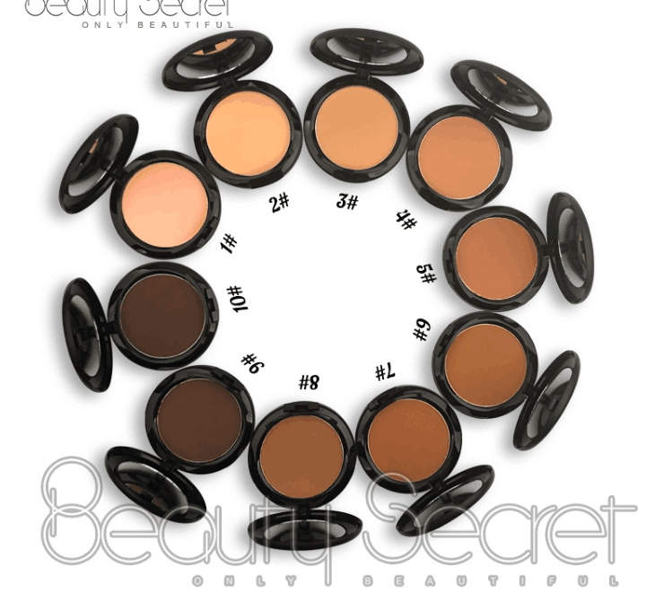 10 Colors Cream To Powder Foundation And Round Compact Powder