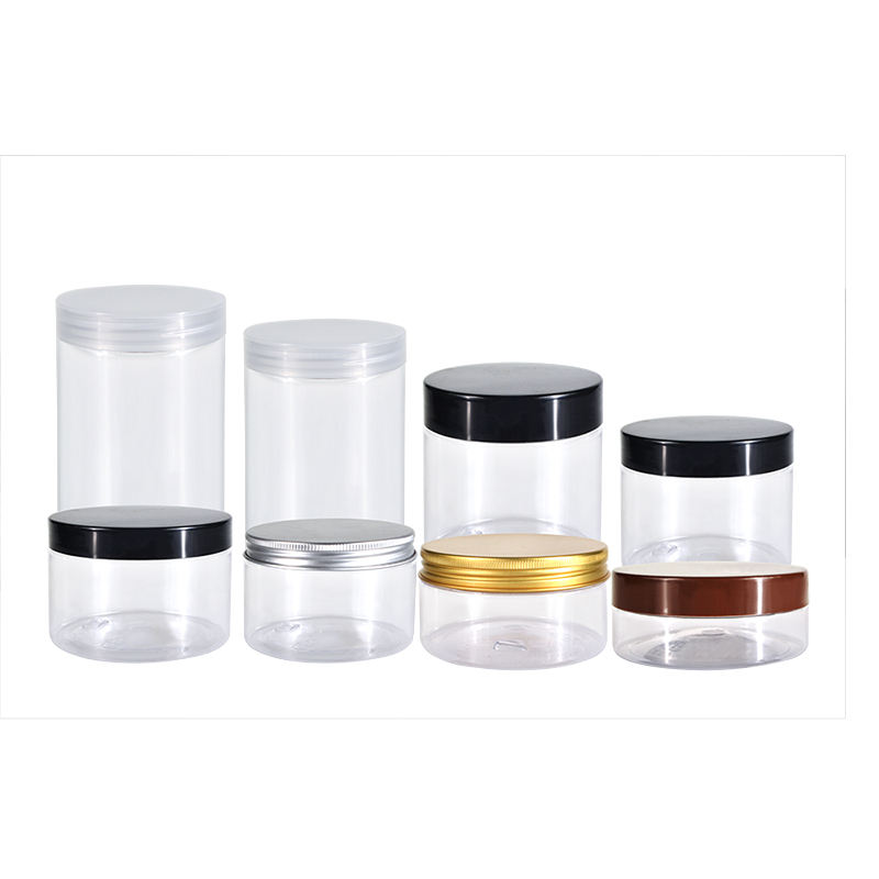 2020 factory hot selling empty 5 oz 6 oz 8 oz 10 oz 12 oz 16 oz plastic cosmetics containers and packaging jar for body butter