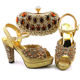 Best sale quality matching italian shoe and bag set ladies shoes bags to match women
