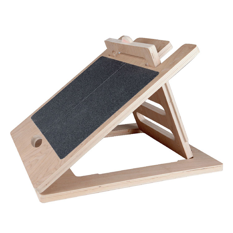 Strong And Durable Adjustable Slant Wood Board Of Exercise And Fitness To Help Calf Stretch