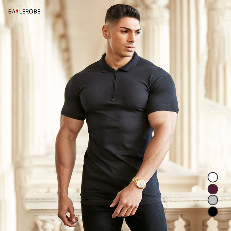 BATTLEROBE Usa Size Men Fitness Tshirt Unbranded T Shirts Gym Oem Bodybuilding Clothing Short Sleeve Gym Dry Fit Polo Shirt