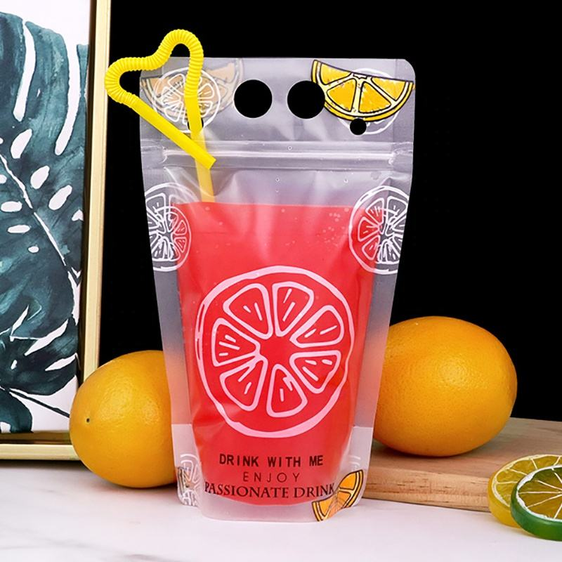 Cold Drink Bag Juice Bags Clear Disposable Beverage Foldable Drinking Plastic Water Pouch