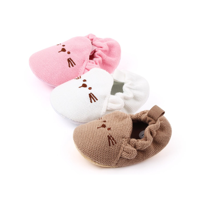 Bear Cartoon Baby Infant Toddler Shoes Knitted Sleeve Kids Toddler Shoes, Woolen Baby Shoes, ODM & OEM