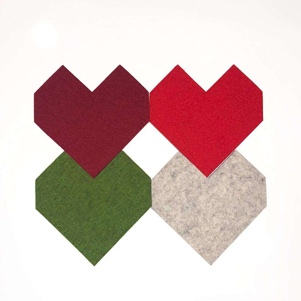 Wholesales Felt Coasters for Drinks 4 Sets Absorbent Coasters