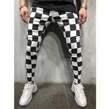 FREE Shipping Summer Nre Fashion Men's Slim Pencil Pants Comfortable Stretchy Casual Striped Plaid Pants