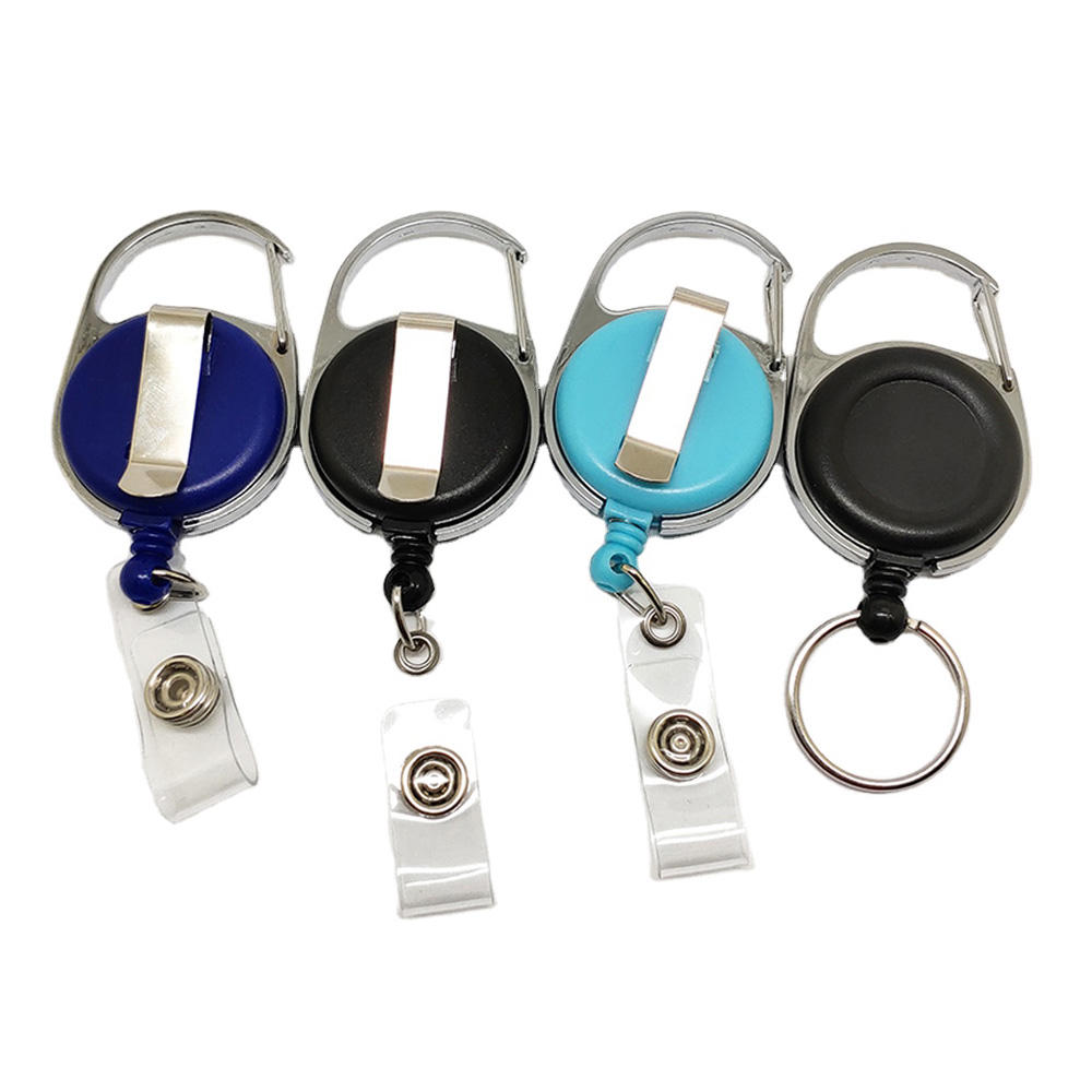 Fast Delivery ABS Plastic /Metal Retractable Badge Name ID Card Holder Reel