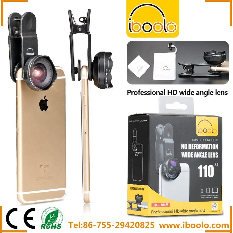 110 degree 18mm 4K HD wide angle lens for mobile phone