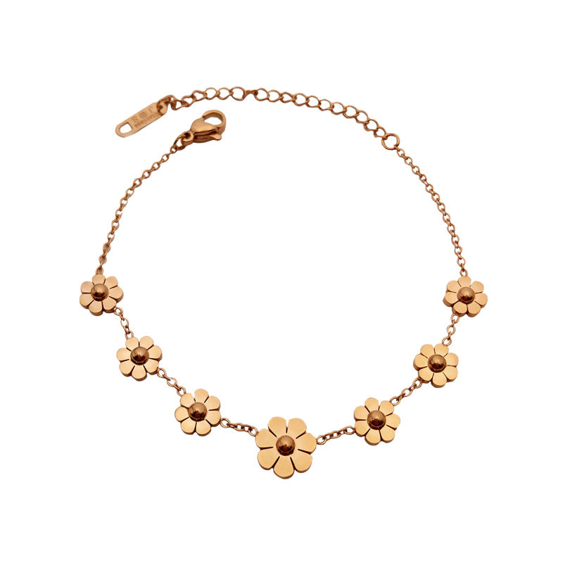 Charare or grande <span class=keywords><strong>petite</strong></span> fleur <span class=keywords><strong>cheville</strong></span> 316L de <span class=keywords><strong>cheville</strong></span> en acier inoxydable bracelet accessoires