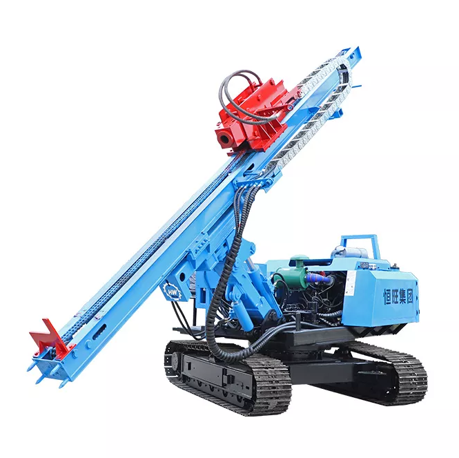 Solar post ramming piling machine for solar power plant project
