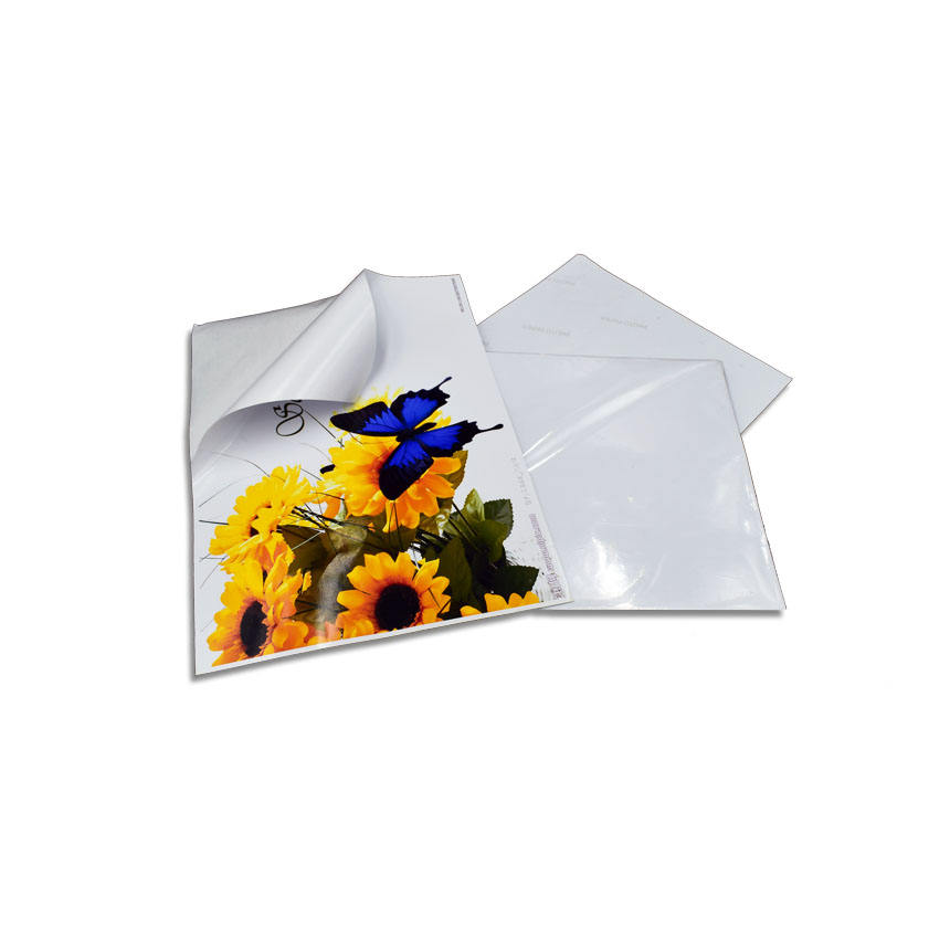 vivid color A4 self-adhesive high glossy inkjet 150gsm photo sticker paper