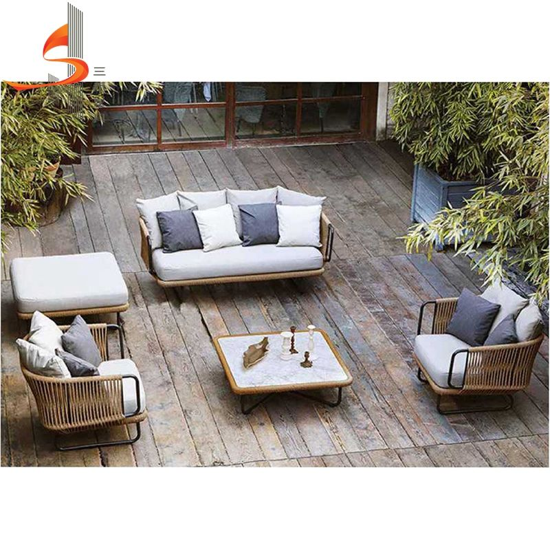 Sanhe 2020 new design holiday modern rattan outdoor furniture sofa set