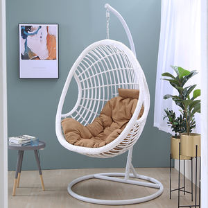 Hanging Basket Chair Leisure Garden Swing Rocking Adult Lounger Chair Hammock Cradle Chair